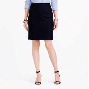 J. Crew Black Wool Pencil Skirt w/ Pockets Size 6